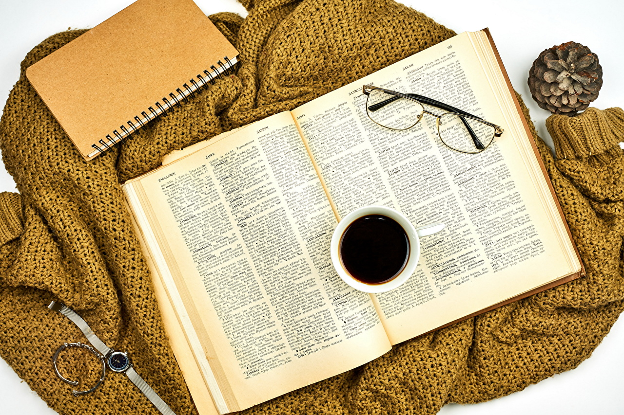 Images Notepad Clock Coffee Cup Food books eyeglasses Book Glasses