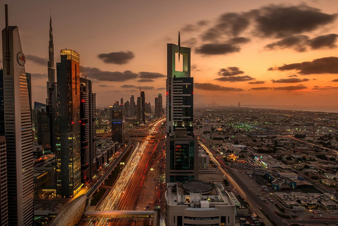 Immagine Dubai Emirati Arabi Uniti Megalopoli Grattacieli Città grattacielo