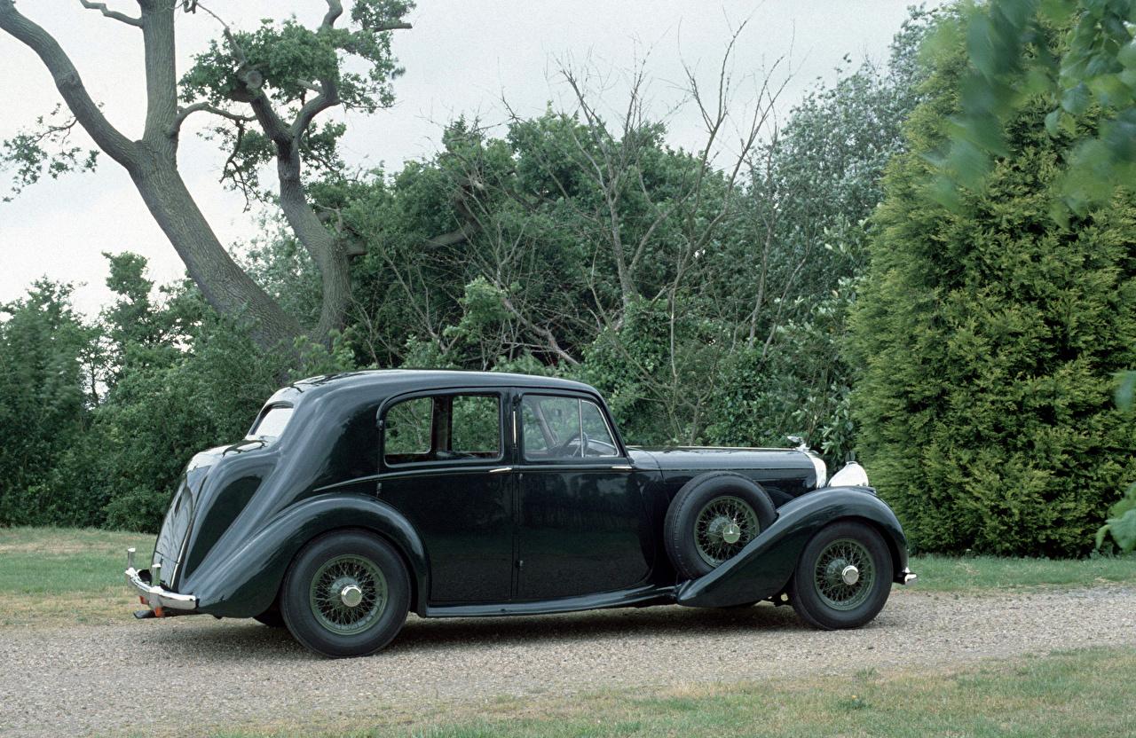 Desktop Wallpapers Bentley 1939 Mark V Saloon by Park Ward gray antique Cars Grey Retro vintage auto automobile