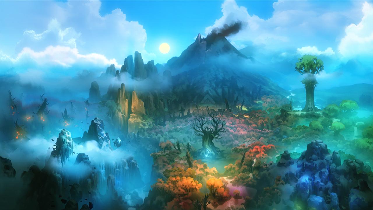 壁紙 幻想的な世界 火山 ファンタジー ダウンロード 写真