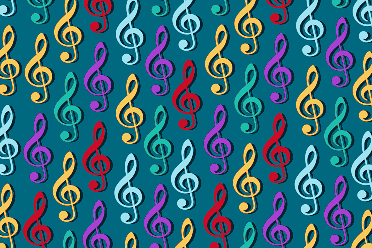 Images Notes Texture Music Many Colored background