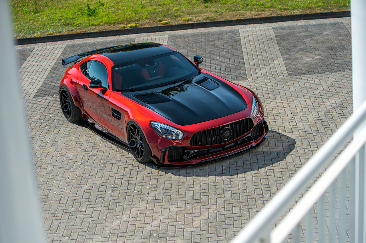 Picture Mercedes-Benz 2018 Prior-Design AMG GT S PD700GTR Red auto Metallic Cars automobile