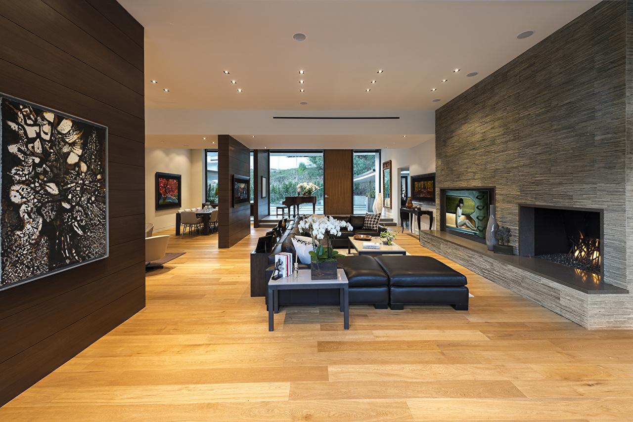Bilder von Wohnzimmer Kamin Decke Bauteil Innenarchitektur Design