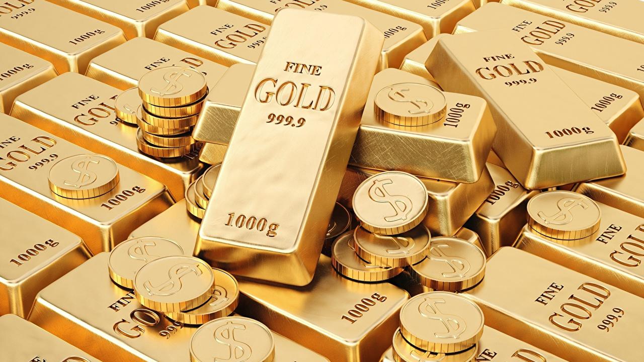 Bilder von Münze Gold Barren Metall