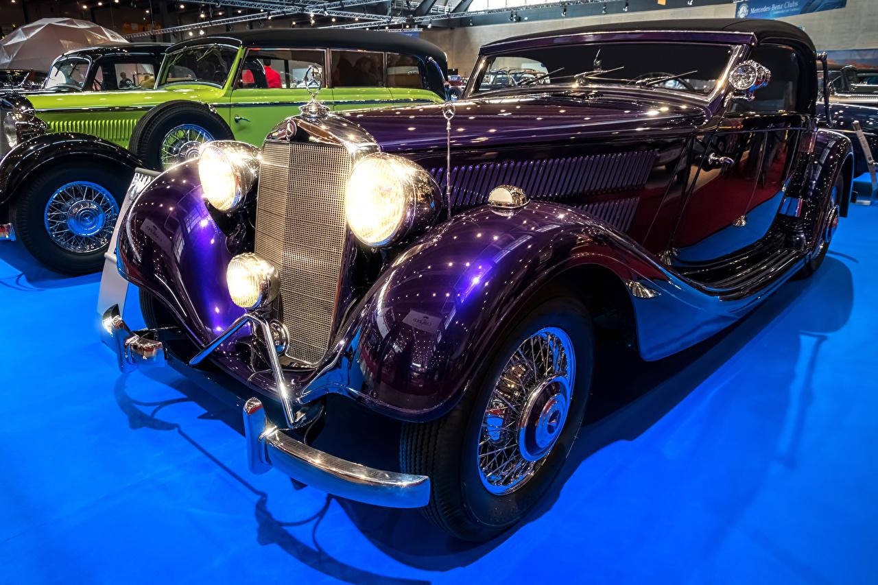 Image Mercedes-Benz 1938 320 A Violet antique Cars Metallic Retro vintage auto automobile