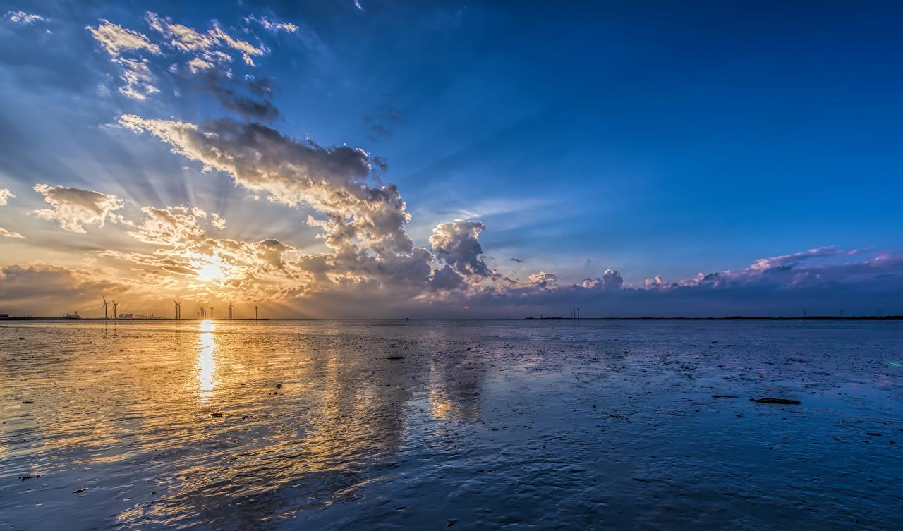 壁紙 海 朝焼けと日没 空 雲 自然 ダウンロード 写真