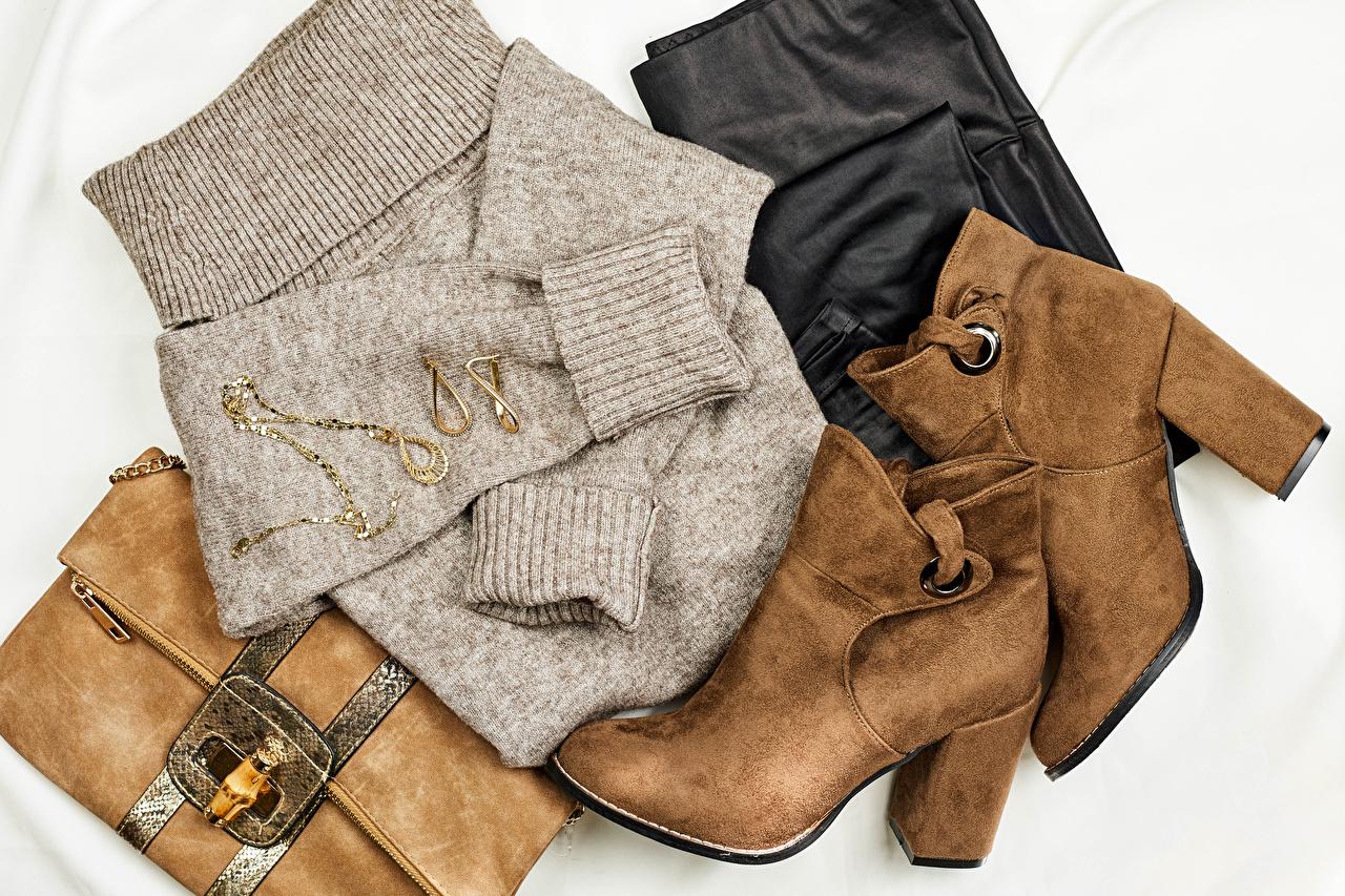 Foto Boots Sweatshirt Handtasche