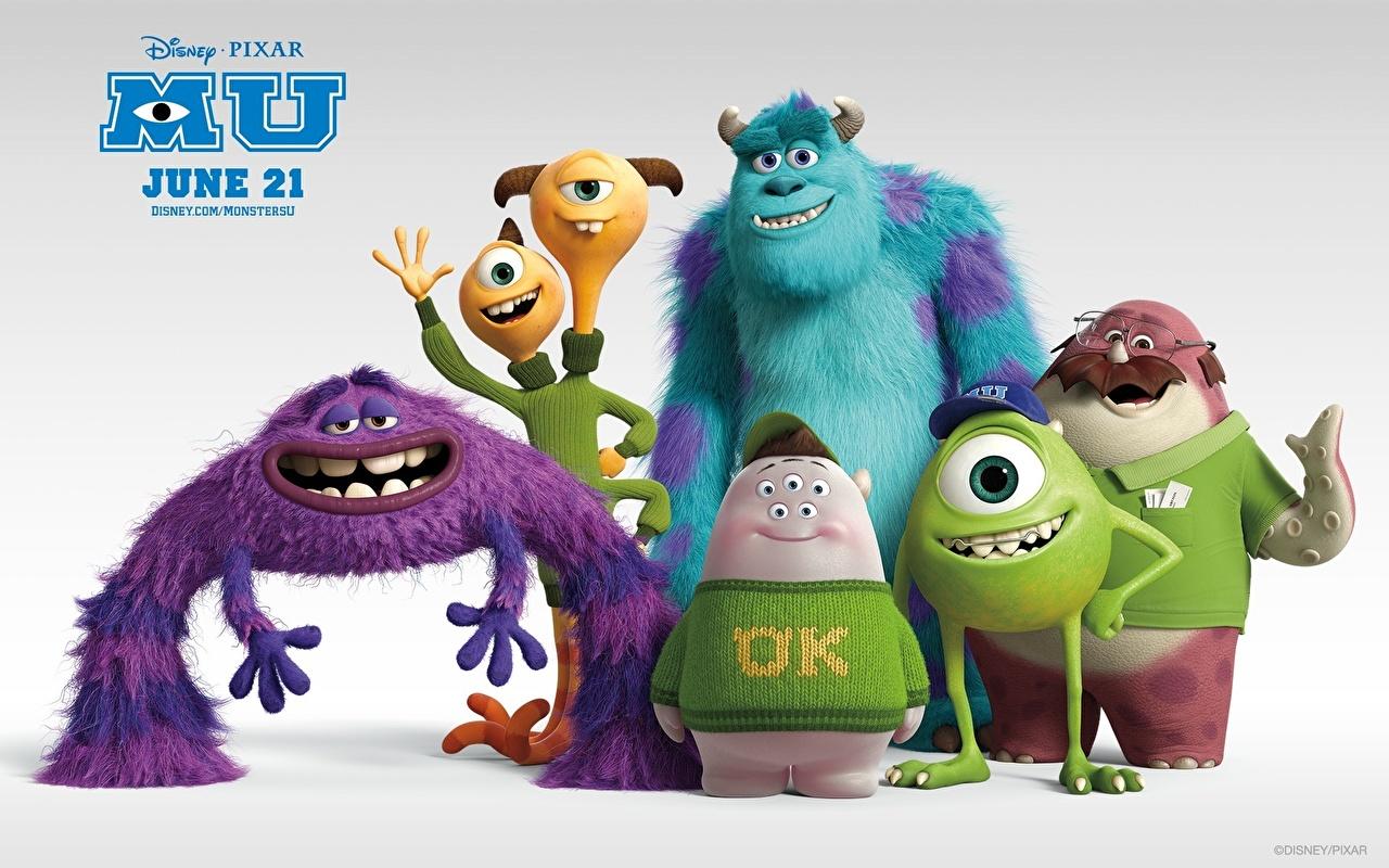 Hintergrundbilder Die Monsters Uni Ungeheuer 3D-Grafik Animationsfilm 1280x800 Monsters Zeichentrickfilm