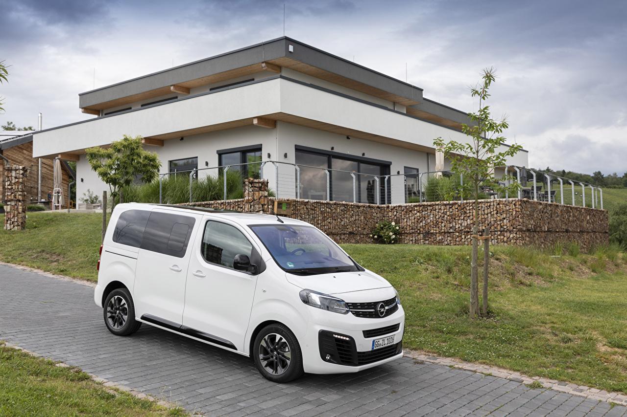 Fotos von Opel 2019 Zafira Life Small Ein Van Weiß Autos auto automobil