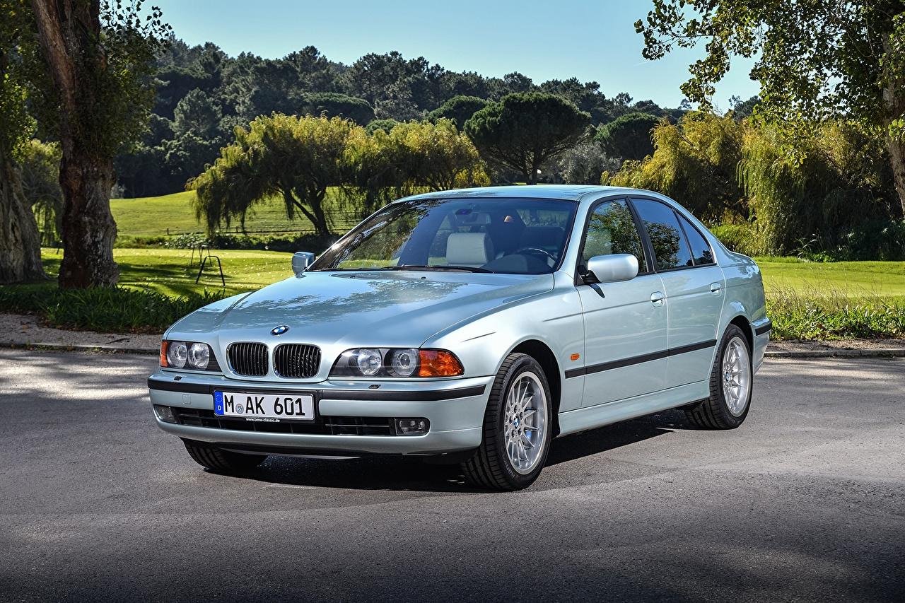 Wallpaper BMW 1995-2000 528i Sedan Cars Metallic auto automobile