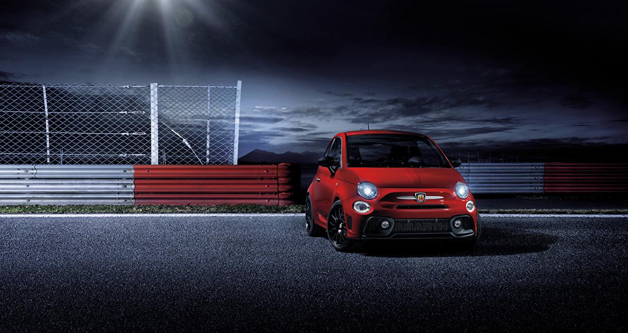壁紙 アバルト 2017 595 Pista 赤 正面図 自動車 ダウンロード 写真