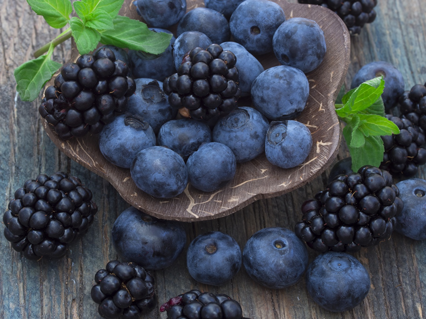Photo Blackberry Blueberries Food Berry