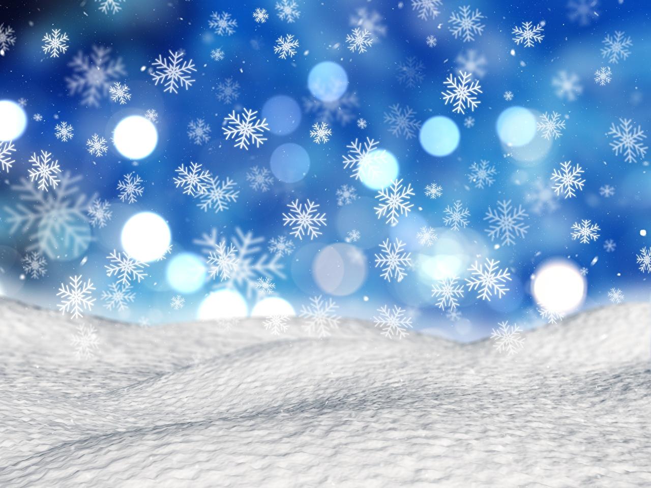 Fotos Neujahr Schneeflocken Schnee