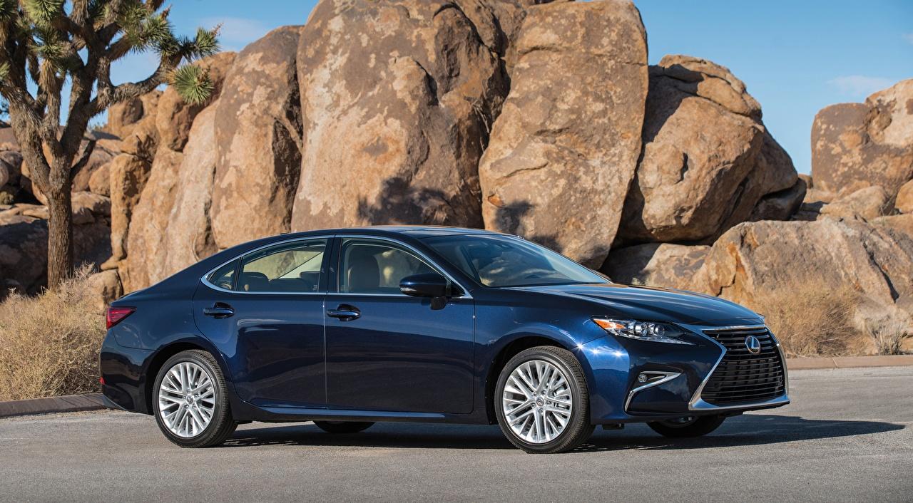 Image Lexus ES 350, US-spec, 2015 Sedan Blue Cars Side stone auto Stones automobile