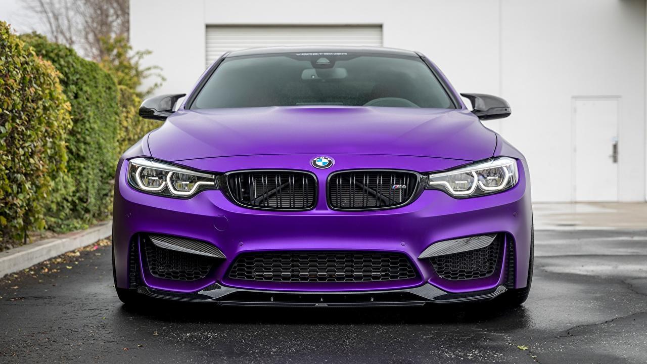 Image BMW Vorsteiner 2018 GTS F82 M4 Violet Front automobile Cars auto