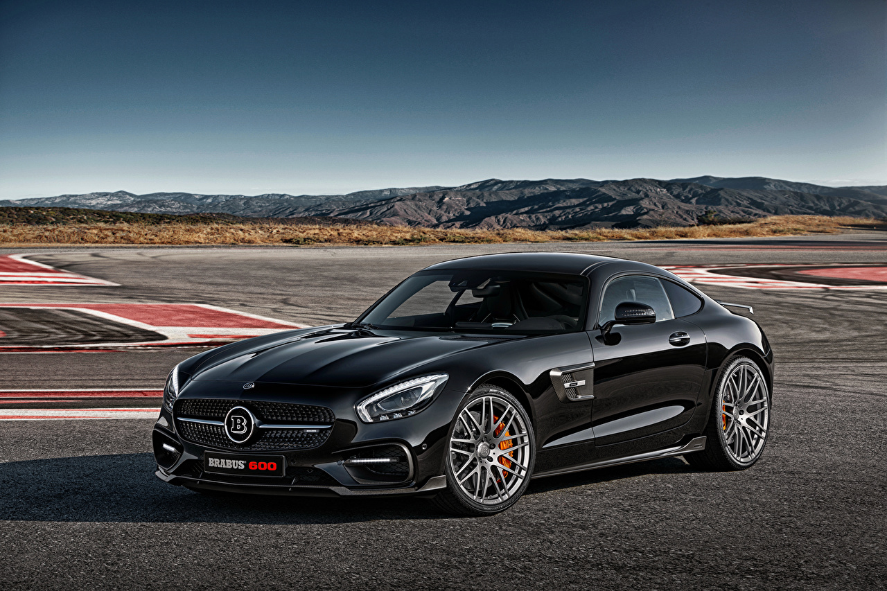 Fonds d'ecran Mercedes-Benz 2015 Braus AMG GT S C190 Noir Voitures télécharger photo
