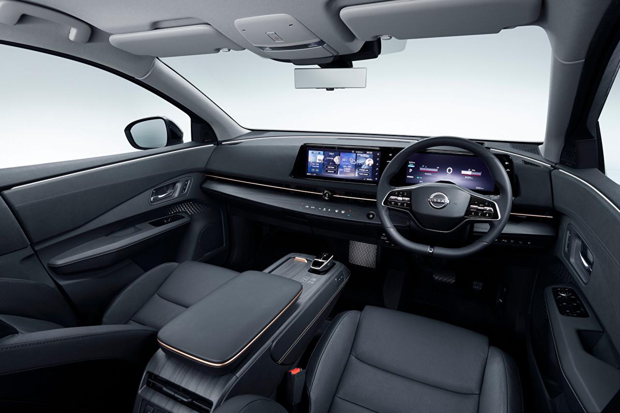 Bilder von Salons Nissan Lenkrad Crossover Ariya e-4orce JP-spec, 2020 Autos Softroader auto automobil