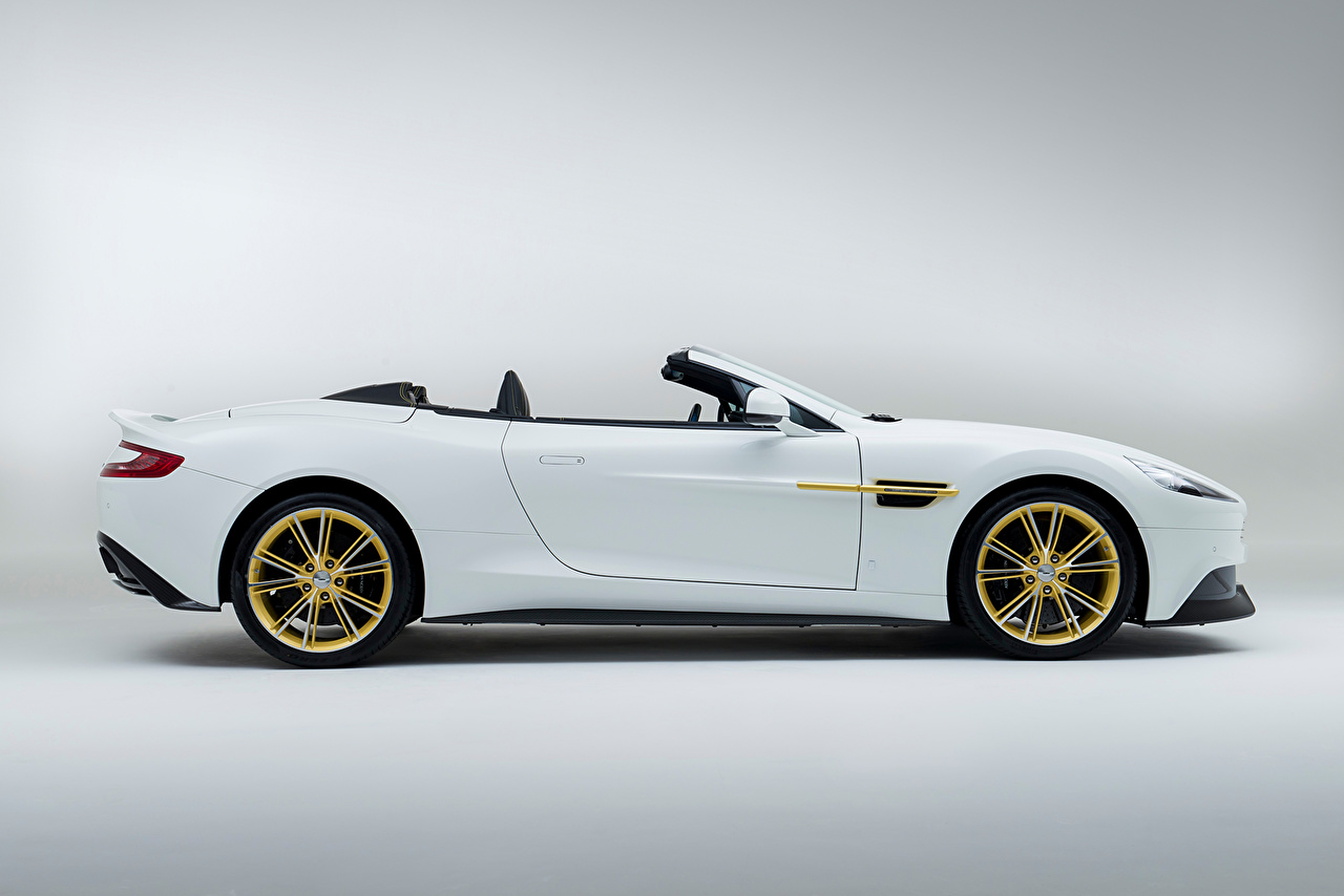 Photo Aston Martin 2014 Vanquish Cabriolet White Auto Side Metallic