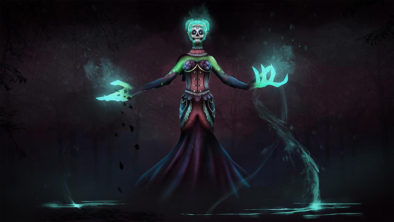 Picture Dota 2 Death Prophet Magic Monsters Fantasy Games