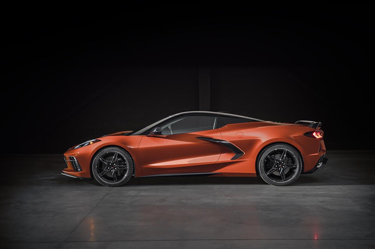 Chevrolet Corvette Stingray 2020 C8 Lateralmente Metálico carro, automóvel, automóveis Carros