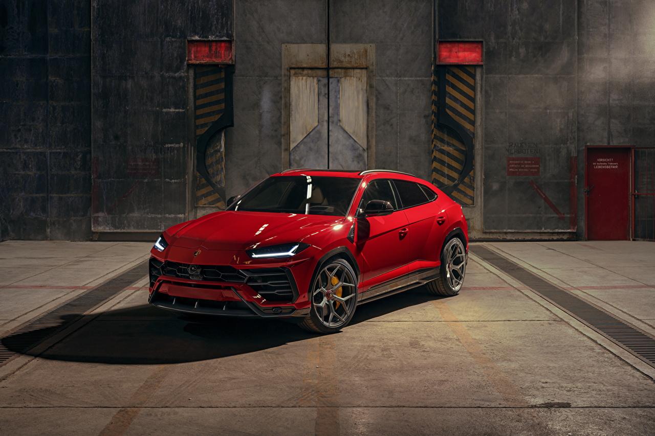 Pictures Lamborghini CUV Urus SSUV Red Cars Metallic Crossover auto automobile