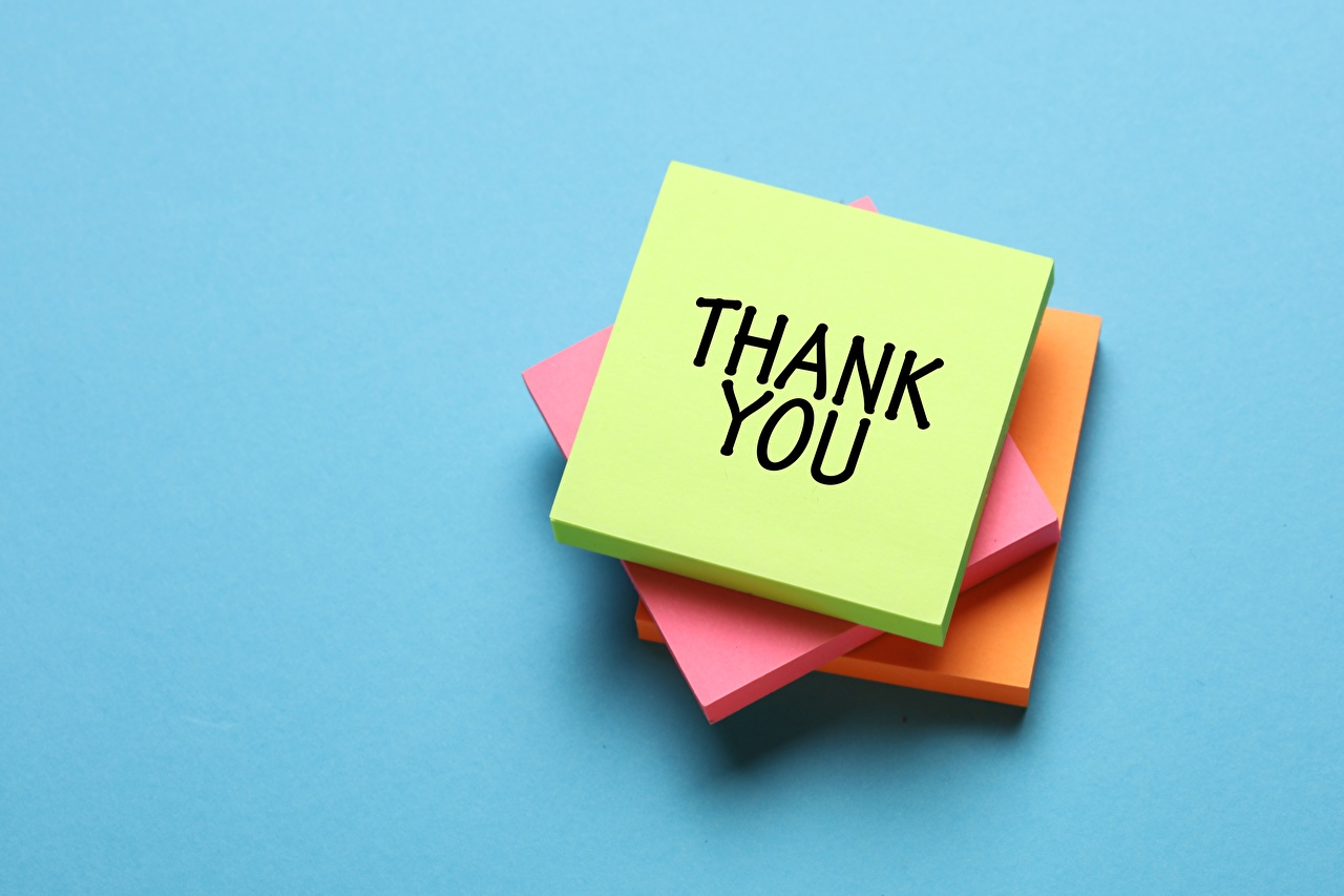 Picture English Paper Thank YOU, Sticky notes lettering Colored background text Word - Lettering