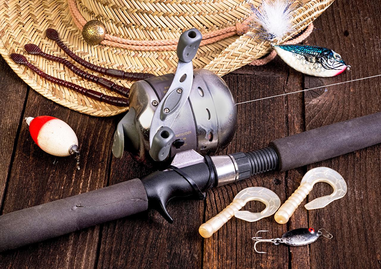 Fotos von Fischerei sportliches Angelrute Bretter Sport