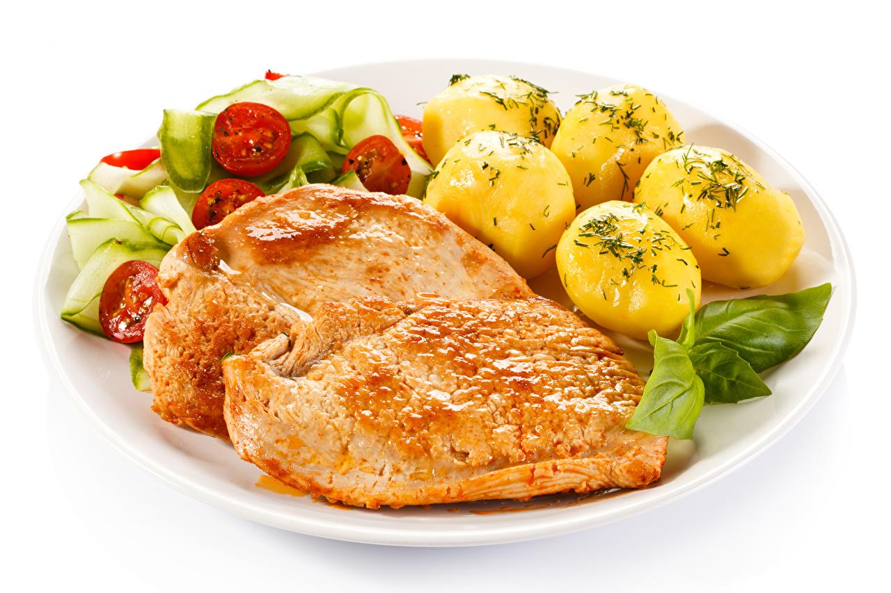 ,第二個菜,土豆,肉類產品,蔬菜,白色背景,食品,食物,