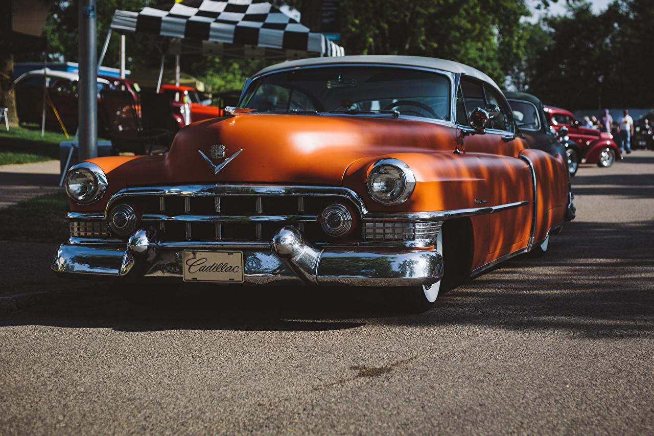Picture Cadillac Series 62 Orange vintage Cars Retro antique auto automobile