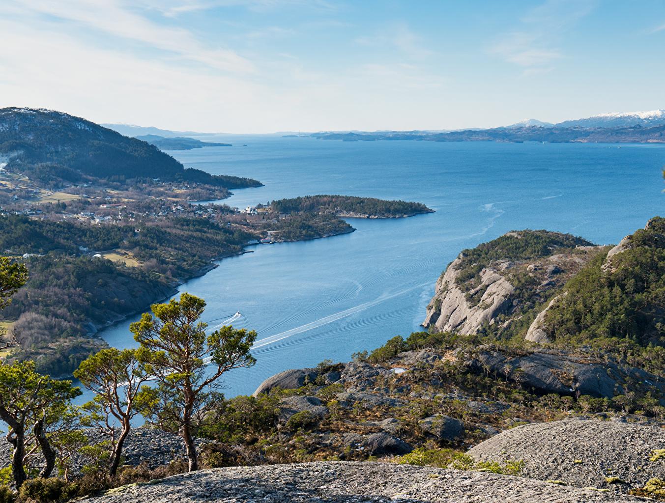 Foto Norwegen Skorpo Natur Bucht Küste