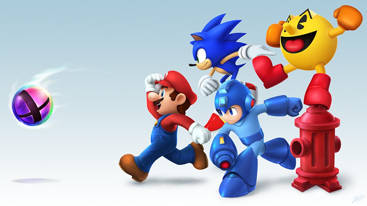 壁紙 ソニックアドベンチャー マリオシリーズ Smash Bros Pac Man