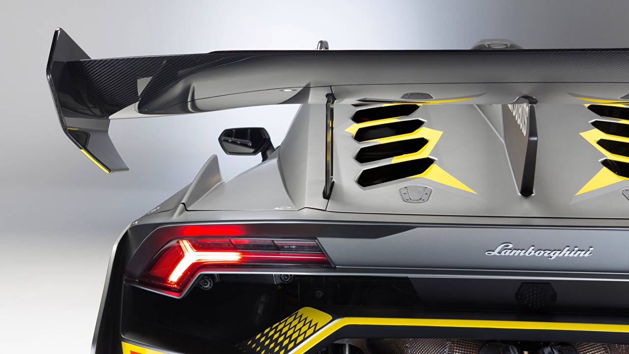 Picture Lamborghini Huracan Super Trofeo Evo Back view Headlights automobile Closeup Cars auto