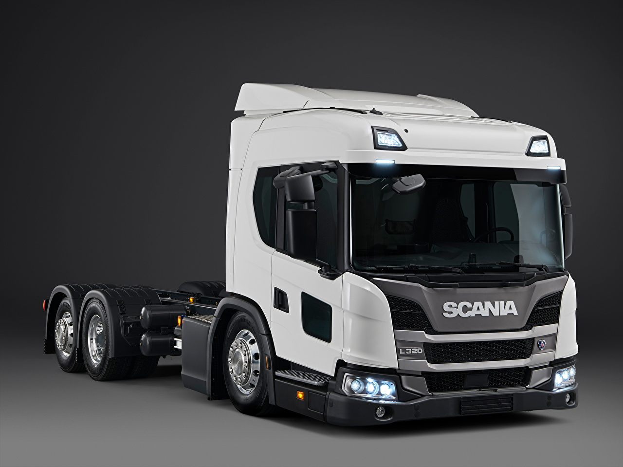 Image Scania Trucks L 320 6x2 '2018 White Cars lorry auto automobile