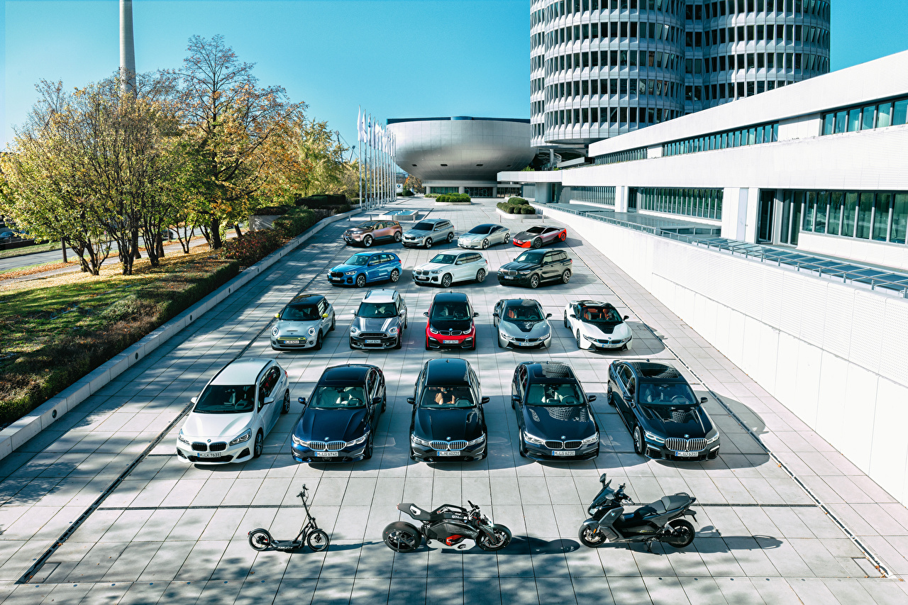 Image BMW Mini Munich Germany Motorcycles Cars Many motorcycle auto automobile
