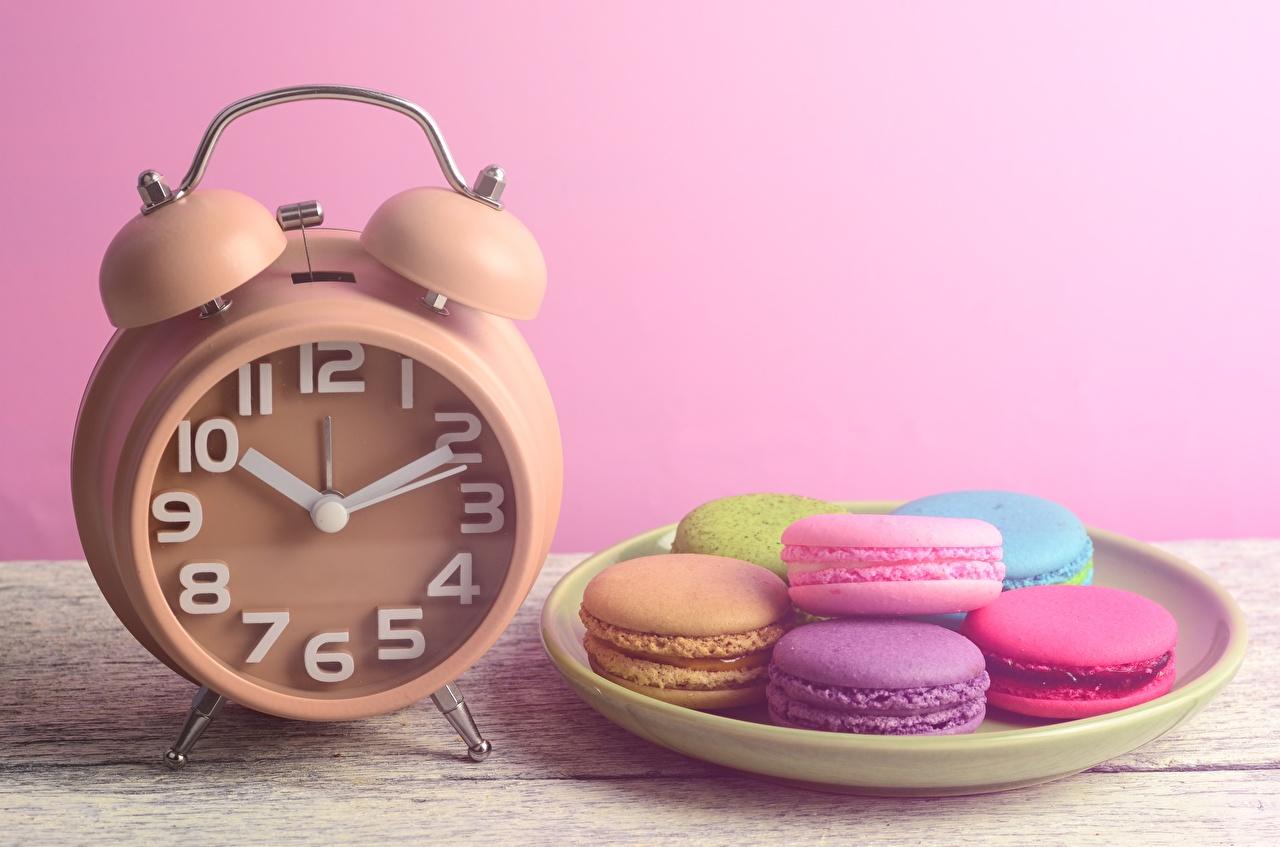 Relógio Despertador Macaron comida, macaroon Alimentos