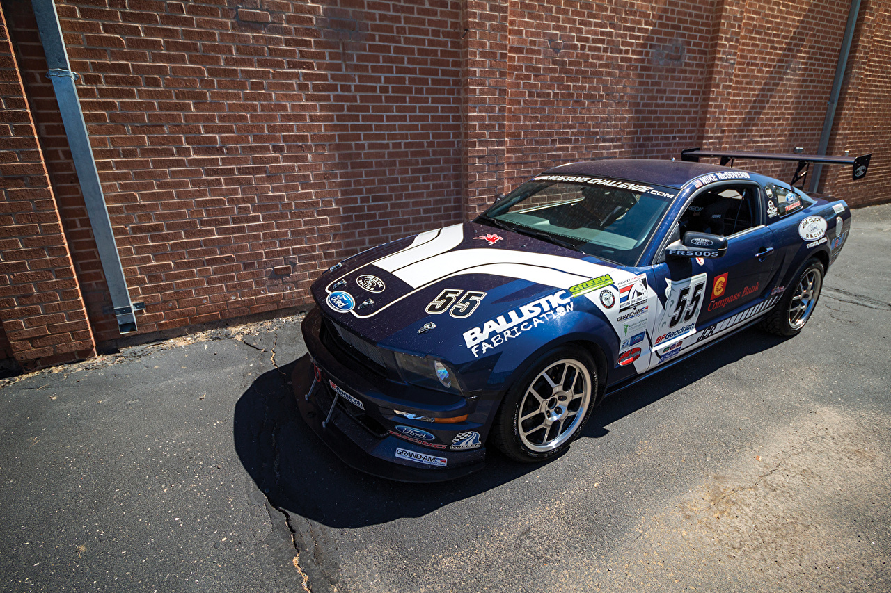 Ford Tuning 2008 Mustang FR500S Bleu voiture, automobile Voitures