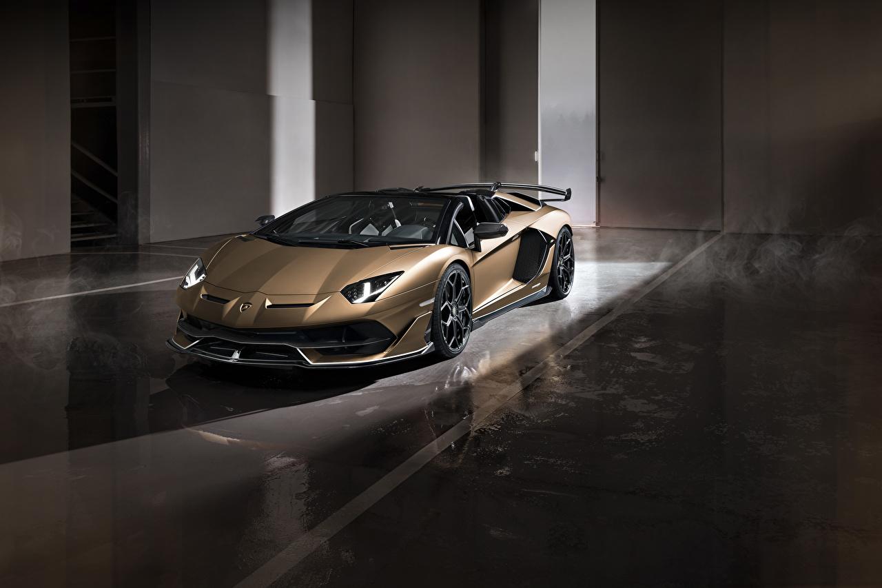 Hintergrundbilder Lamborghini 2019 Aventador SVJ Roadster Worldwide Autos