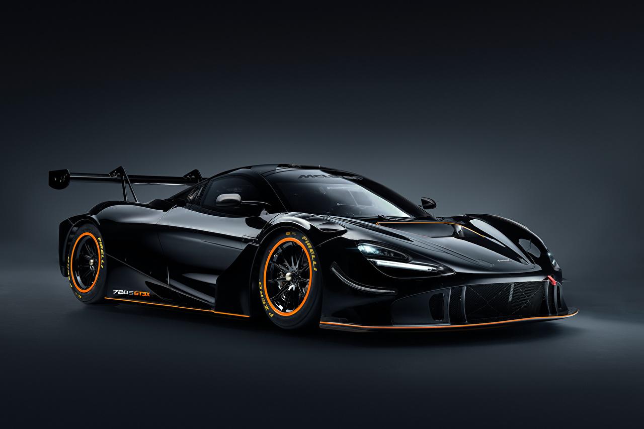Photo McLaren 720S GT3X, 2021 Black auto Metallic Cars automobile