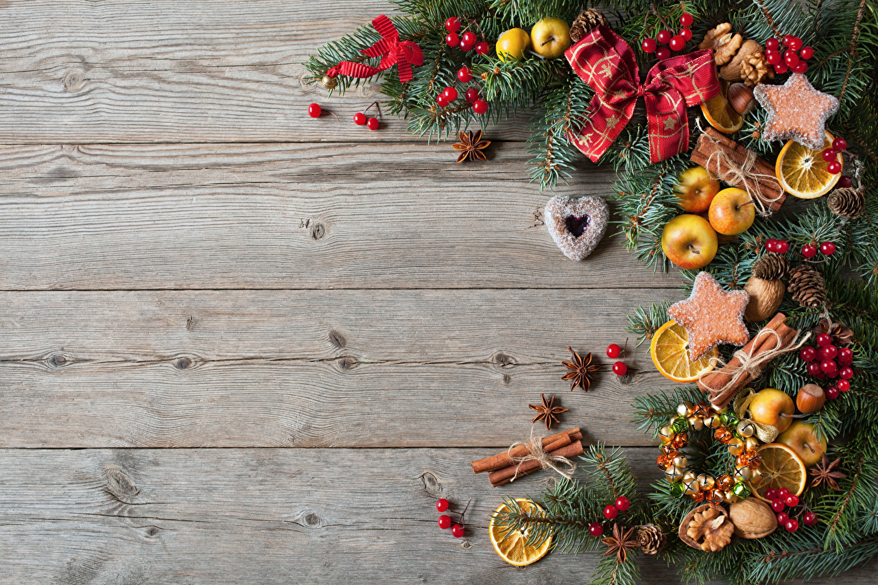 Christmas Cookies Wallpaper.Wallpaper Christmas Lemons Cinnamon Food Cookies Bowknot
