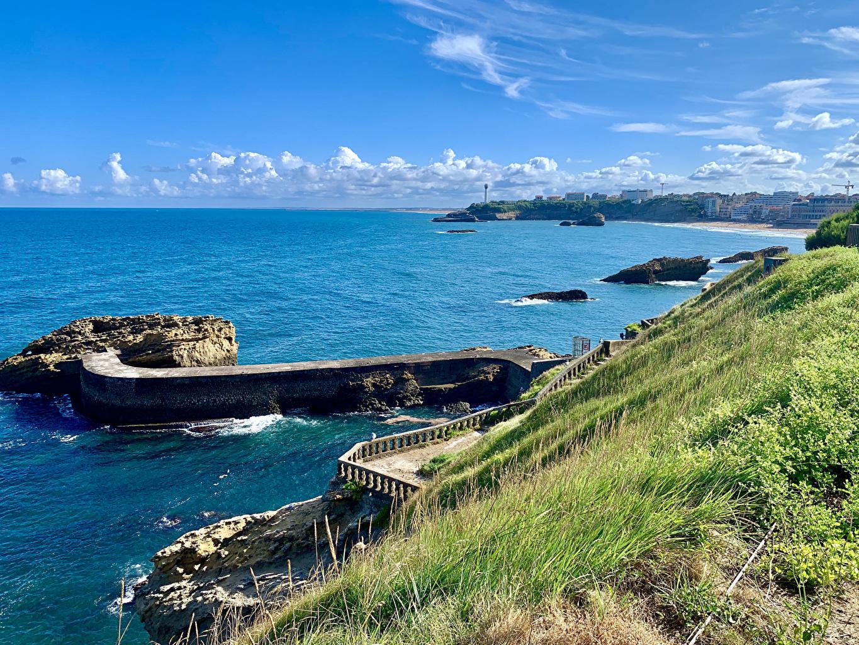 França Costa Atracadouros Biarritz Baía Píer Naturaleza