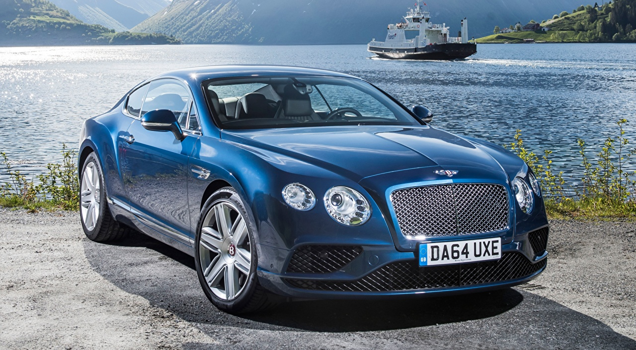 Desktop Wallpapers Bentley Luxury, Continental. GT V8, 2015 Coupe luxurious Blue auto Luxury expensive Cars automobile