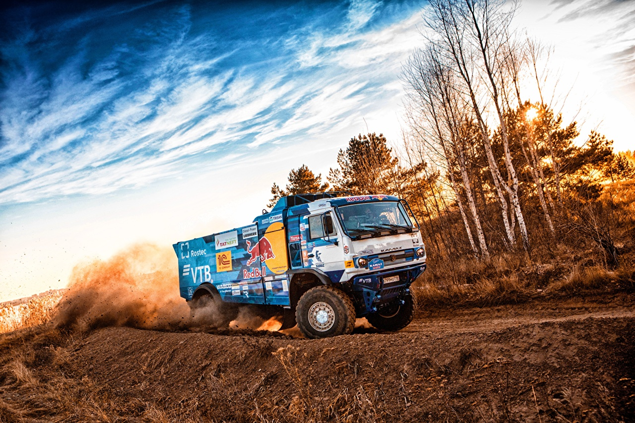 Images lorry KAMAZ 309 SilkWay Dakar moving Trucks Motion riding driving at speed