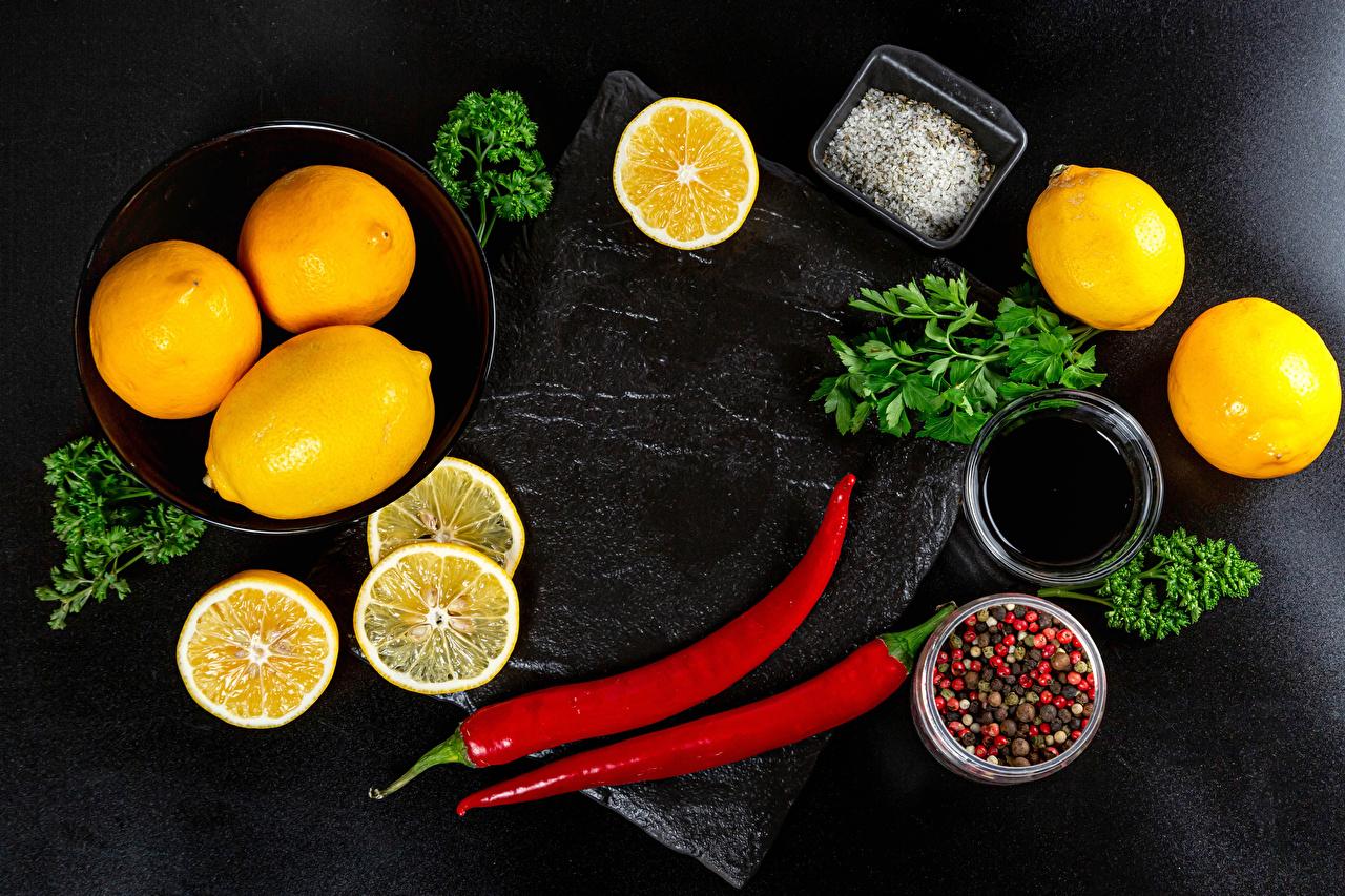 Bilder Apfelsine Chili Pfeffer Schwarzer Pfeffer Salz Zitrone Gemüse das Essen Orange Frucht Zitronen Lebensmittel