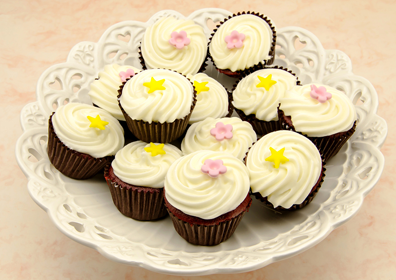 Picture fairy cake Food Many Little cakes confectionery Cupcake Sweets