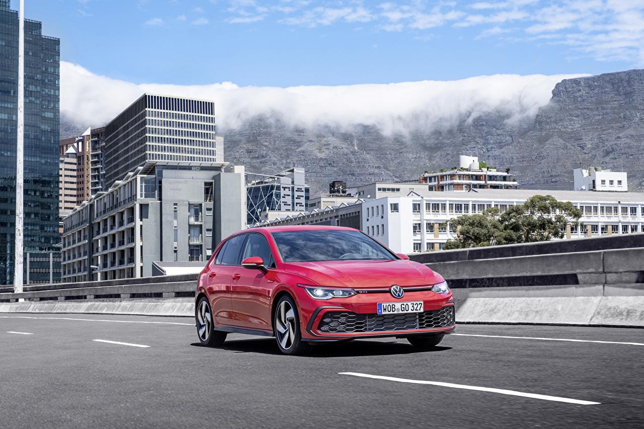 Bilder von Volkswagen 2020 Golf GTI Worldwide Rot auto Autos automobil