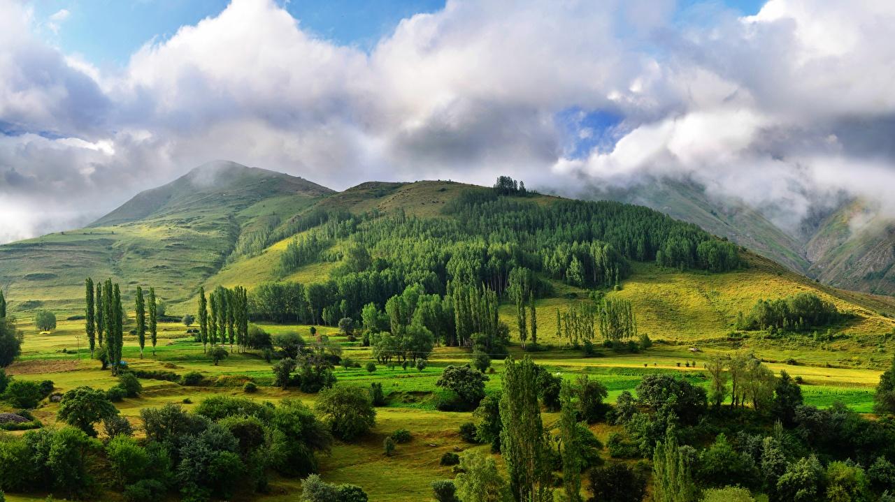 Hintergrundbilder Natur Hügel Wälder Landschaftsfotografie Wolke Bäume
