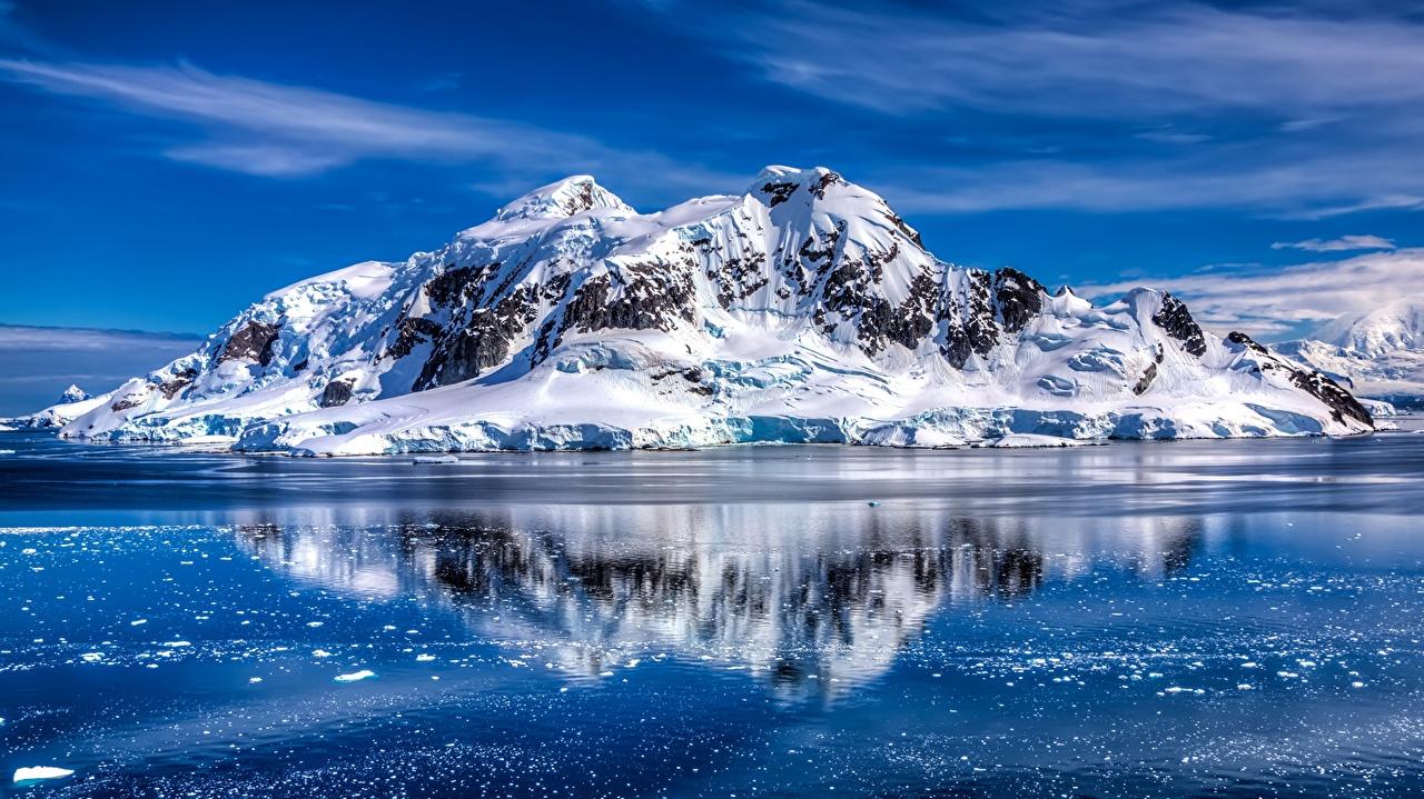 Picture Antarctica Sea Nature Mountains Snow mountain