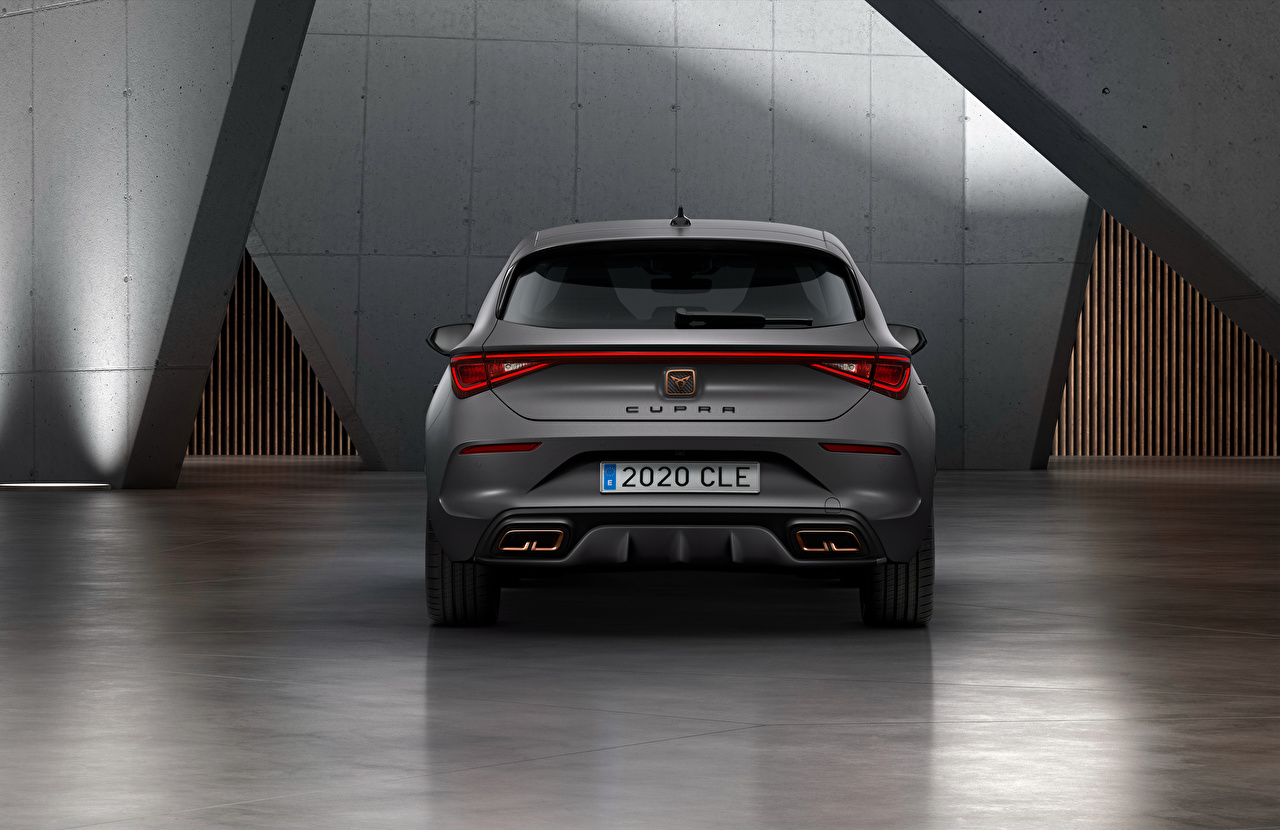 Fotos von Seat Cupra, Leon, eHybrid, Worldwide, 2020 graues Hinten automobil Grau graue auto Autos