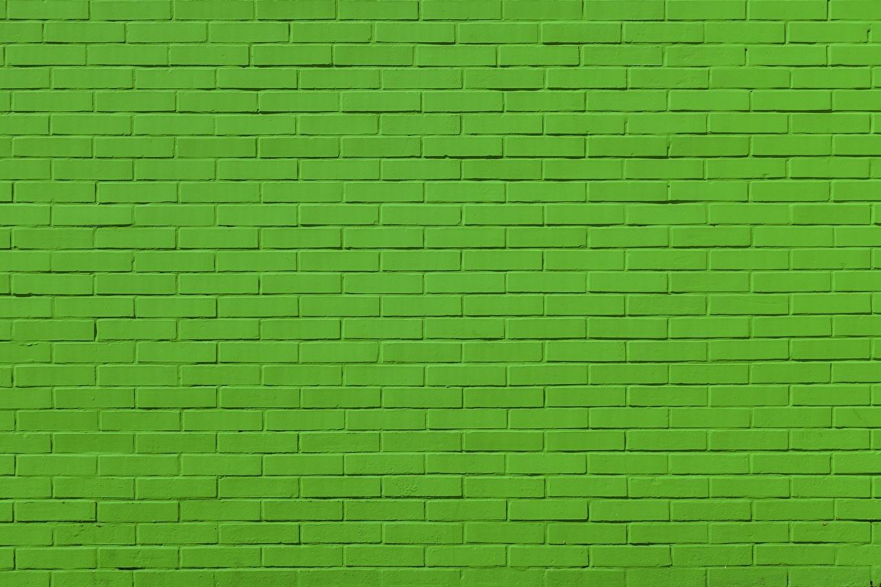 Photos Texture Green Made Of Bricks Wall