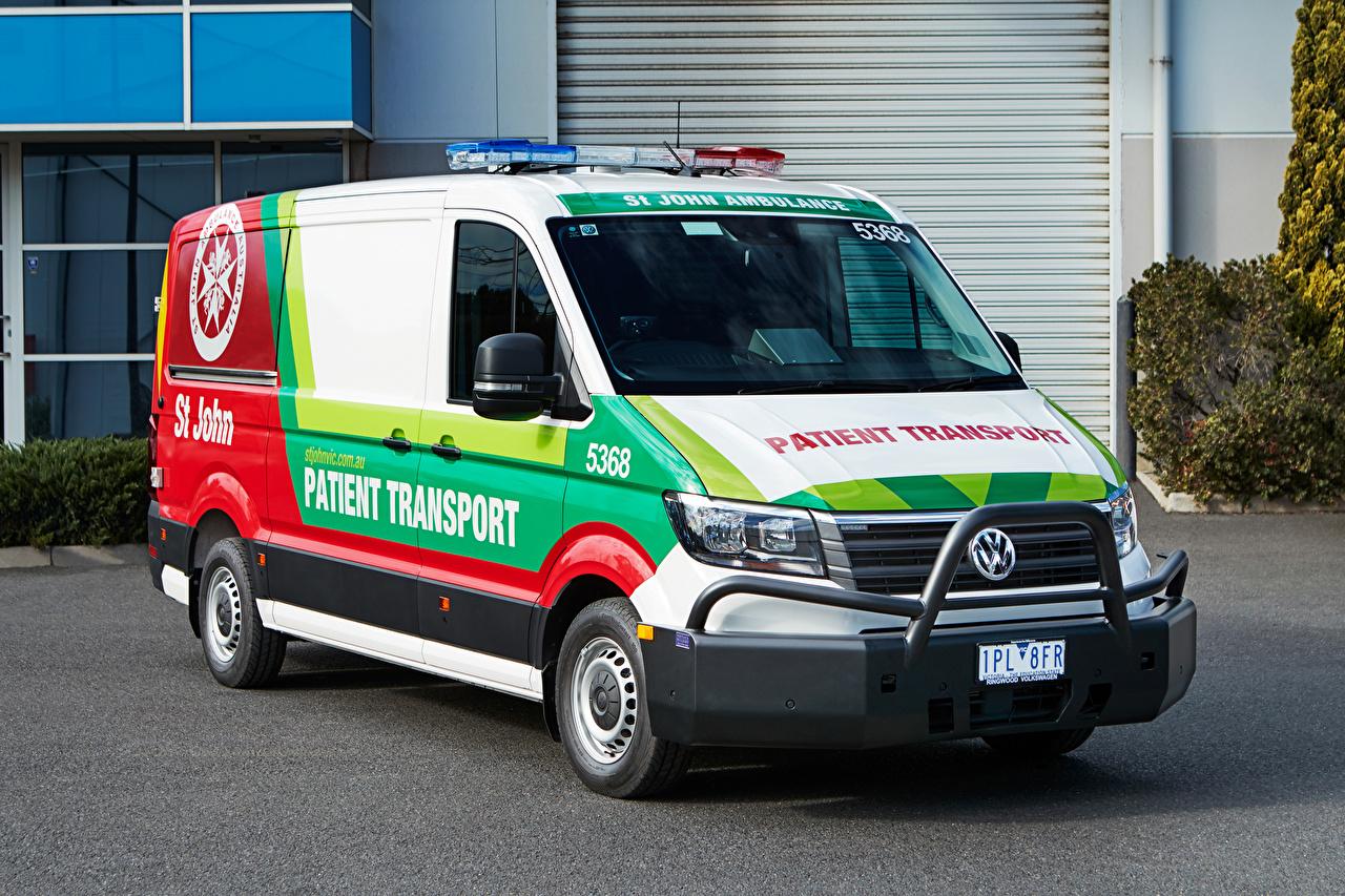 Sfondi Volkswagen 2019 Crafter Ambulance automobile Auto macchine macchina autovettura
